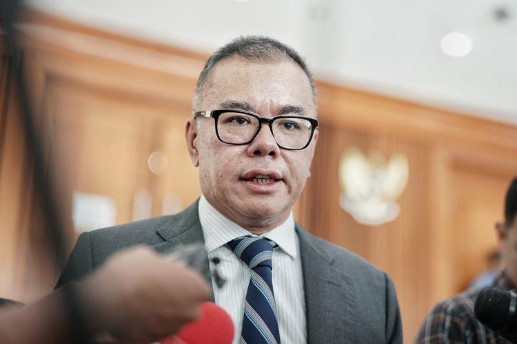 Wakil Ketua Umum Partai Amanat Nasional (PAN) Bara Hasibuan  di Kompleks Parlemen, Senayan, Jakarta, Selasa (28/5/2019).