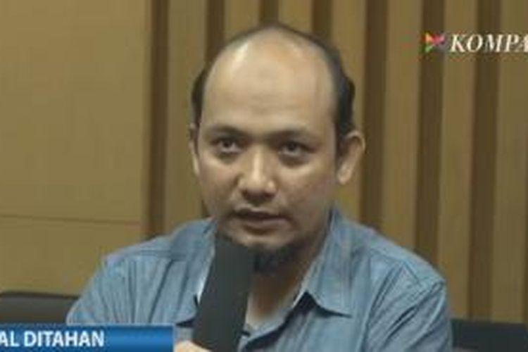 Novel Baswedan saat konferensi pers di Gedung KPK, Sabtu (2/5/2015).