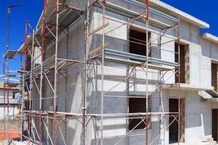 Ilustrasi: Konstruksi bangunan rumah