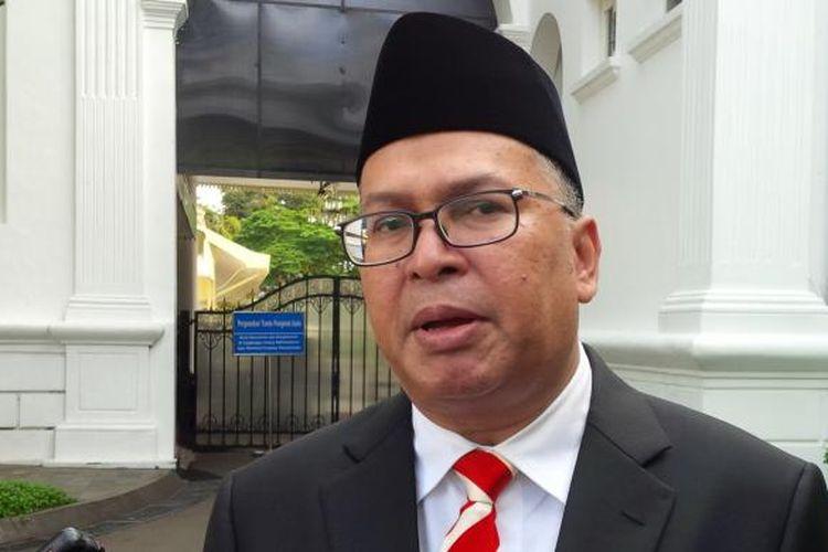 Helmy Fauzi, seusai dilantik Presiden Joko Widodo sebagai Duta Besar Arab Mesir, di Kompleks Istana Kepresidenan, Jakarta, Kamis (25/2/2016).