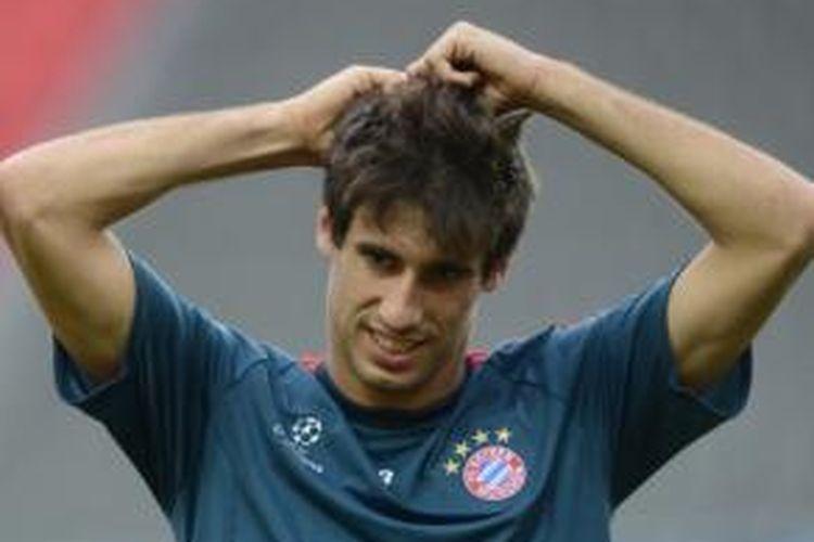 Gelandang Bayern Muenchen, Javi Martinez.