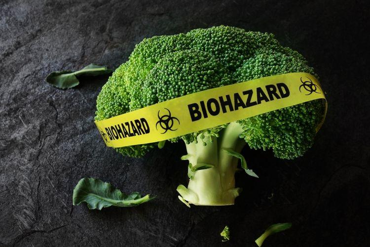 Ilustrasi makanan beracun.