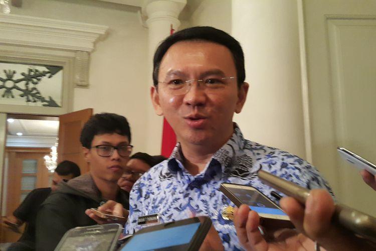 Mantan Gubernur DKI Jakarta Basuki Tjahaja Purnama (Ahok) di Balai Kota DKI Jakarta, Jalan Medan Merdeka Selatan, Selasa (2/5/2017).