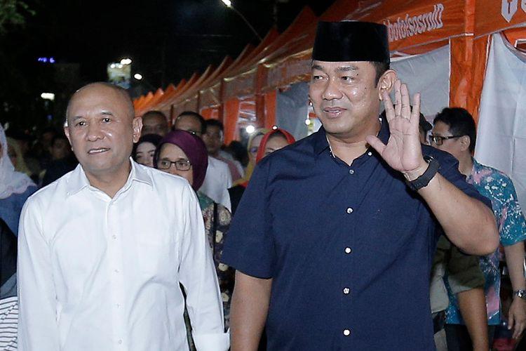 Wali Kota Semarang dan Menteri Koperasi dan UMKM RI saat meresmikan Jalan Depok sebagai destinasi wisata kuliner malam akhir pekan, Jumat (24/1/2020).