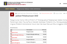 Jadwal dan Lokasi Tes SKD Poltekip dan Poltekim 2020, Cek Link-nya di Sini!