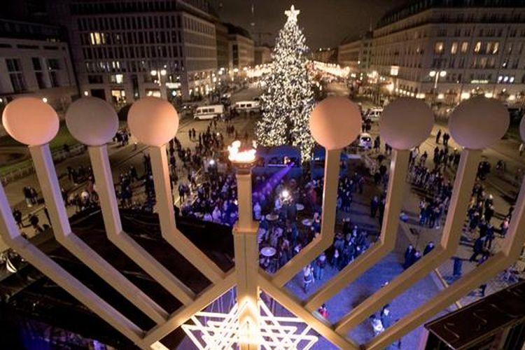 Perayaan Hanukkah di Jerman tahun 2019.