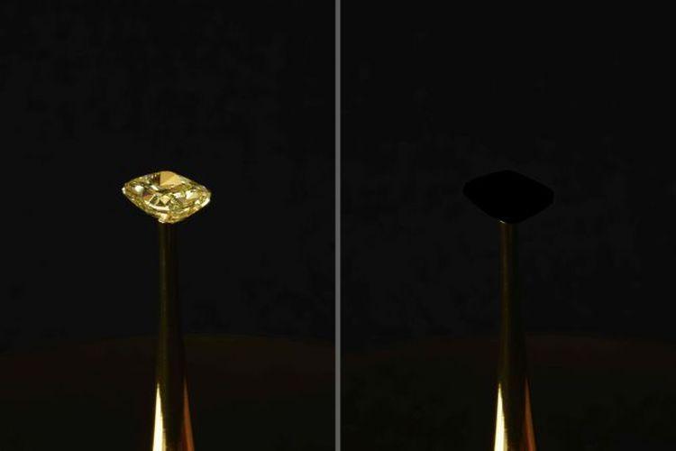 Dalam sebuah pameran di New York, ilmuwan berhasil mengubah berlian kuning berkilau menjadi hitam pekat.