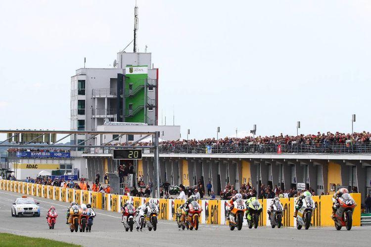 Seri MotoGP Jerman di Sirkuit Sachsenring.