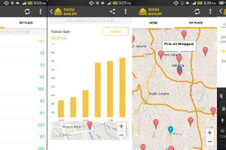 Screenshot aplikasi Siaga Banjir