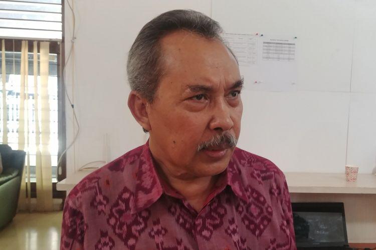 Peneliti LIPI Syamsuddin Haris saat menghadiri survei Populi Center, di Jakarta, Kamis (7/2/2019).
