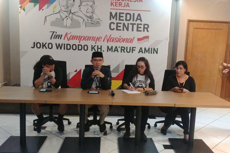 Direktur Relawan Tim Kampanye Nasional Joko Widodo-Maruf Amin, Maman Imanulhaq di Jakarta, Kamis (11/10/2018).