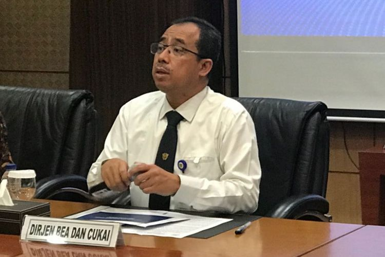 Direktur Jenderal Bea dan Cukai Heru Pambudi di Jakarta, Senin (17/9/2018).