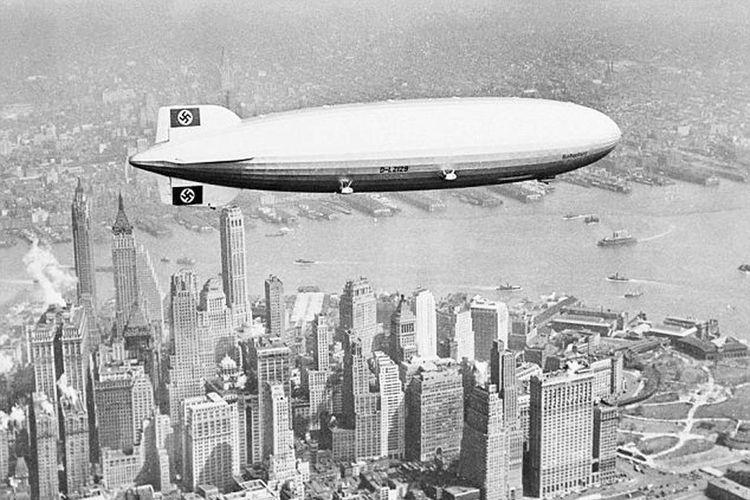 Hindenberg ketika terbang