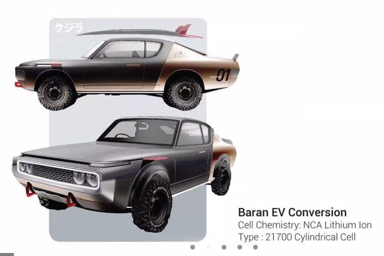 Mobil listrik konversi Baran EV