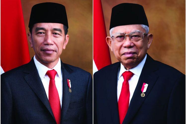 Foto Presiden Joko Widodo dan Wakil Presiden K.H. Maruf Amin