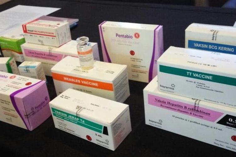 Vaksin yang diproduksi Bio Farma.
