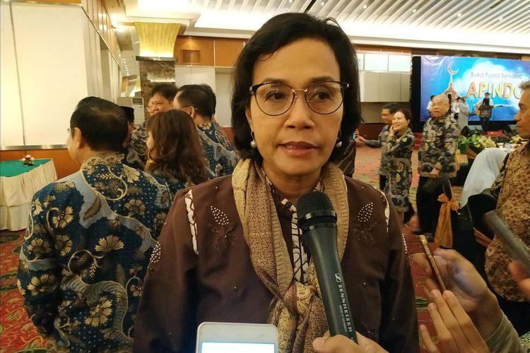 Menteri Keuangan (Menkeu) Sri Mulyani Indrawati memberi keterangan di Grand Sahid Jaya,Jakarta, Rabu (22/5/2019).