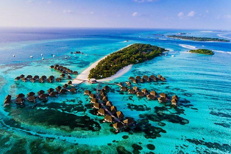 Keindahan Maladewa sebagai tempat romantis untuk merayakan valentine.