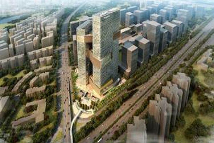 Tencent Tower dikerjakan desainnya oleh NBBJ.