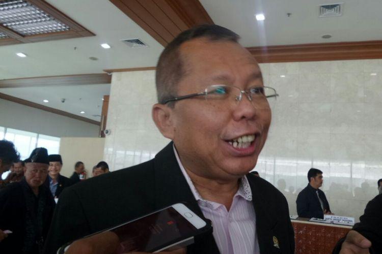 Sekretaris Jenderal PPP Arsul Sani di Kompleks Parlemen, Senayan, Jakarta, Rabu (15/3/2017).
