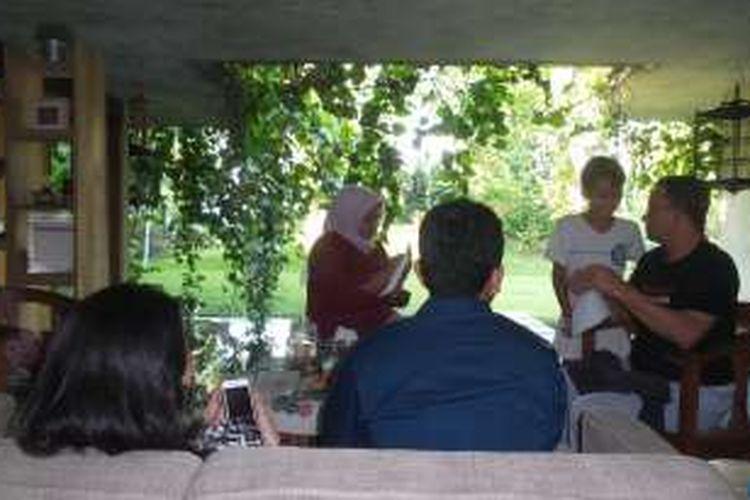 Suasana pagi di kediaman Anies Baswedan.