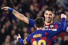 Barcelona Vs Mallorca, Diwarnai Gol Backheels Suarez dan Hattrick Messi