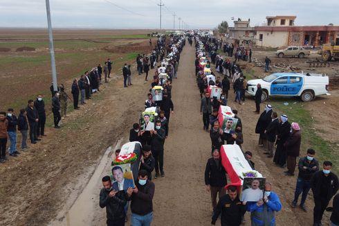104 Jenazah Kelompok Minoritas Yazidi Irak Korban ISIS Akhirnya Bisa Pulang Dimakamkan