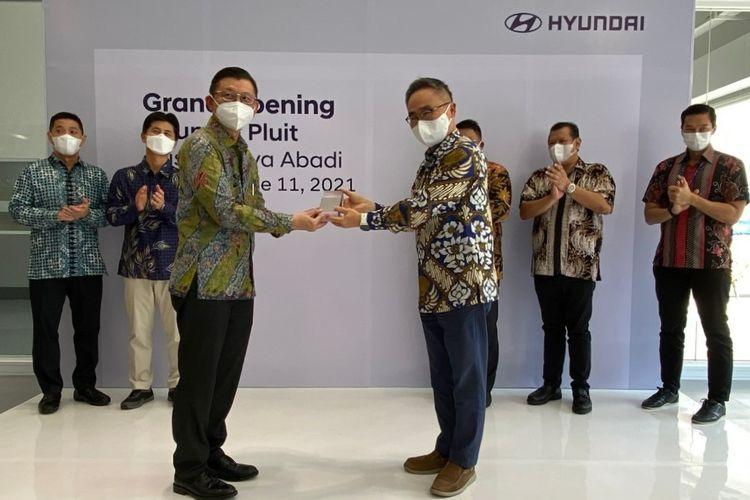 Peresmian diler Hyundai di Pluit, Jakarta Utara.