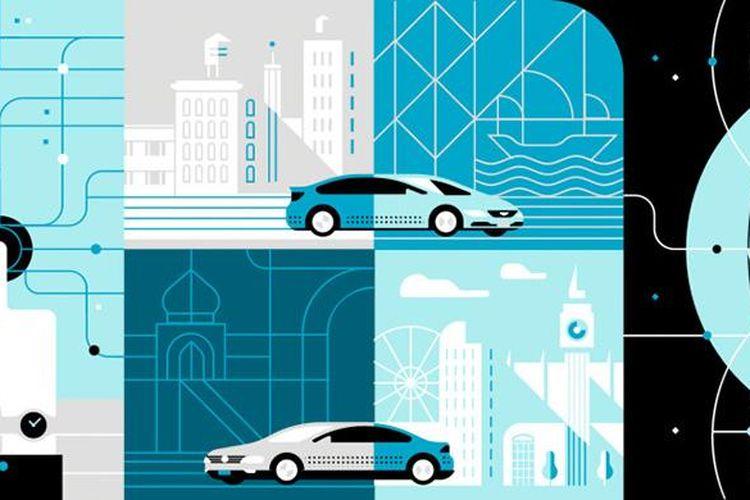 Ilustrasi layanan Uber