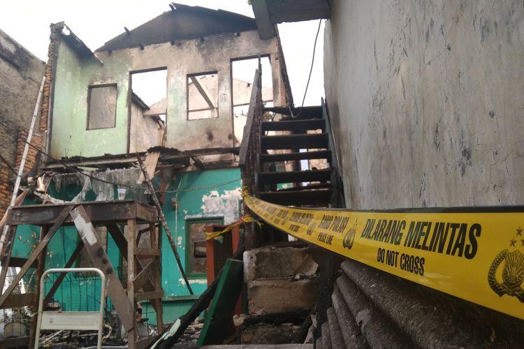 Rumah warga di Bidaracina, Jakarta Timur, yang terbakar pada Minggu (27/8/2018) kemarin. Foto diambil Senin.