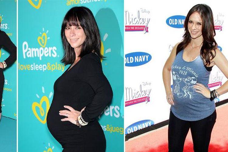 Gaya chic Jennifer Love Hewitt pada kehamilannya