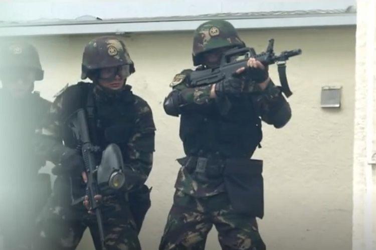Tangkapan layar video propaganda yang dirilis militer China pada Rabu (31/7/2019).