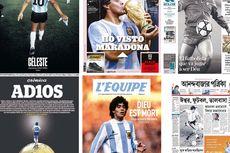 Maradona Meninggal, Koran Seluruh Dunia Beri Penghormatan, Ada yang Menulis 'Tuhan Telah Mati'