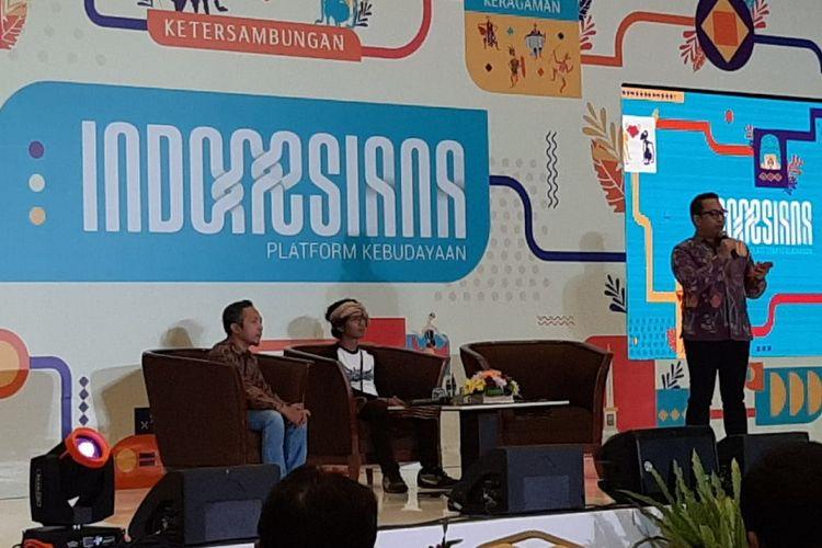 Diskusi bertajuk ?Indonesiana, Platform Kebudayaan? di Jakarta, Kamis (5/12/2019), yang diselenggarakan oleh Direktorat Jenderal Kebudayaan Kementerian Pendidikan dan Kebudayaan (Kemendikbud).