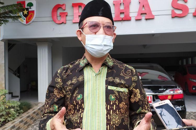 Bupati Banyumas Achmad Husein di kompleks rumah dinas, Sabtu (22/8/2020).