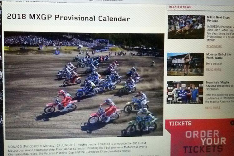 Kalender MXGP/MX2 2018 yang diambil dari laman mxgp.com.