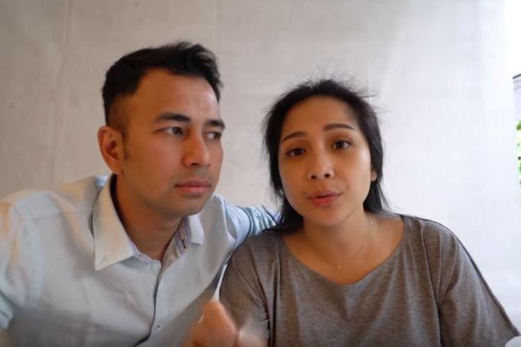 Pasangan suami istri Raffi Ahmad dan Nagita Slavina saat memberikan klarifikasi mengenai hubungan mereka.