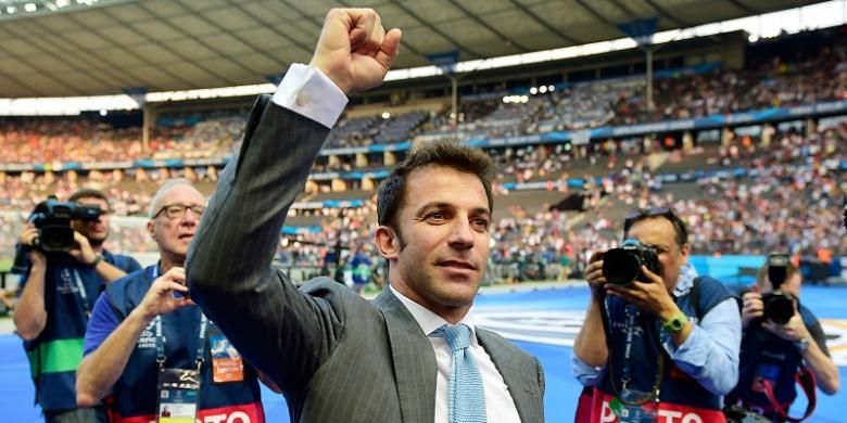 Legenda Juventus, Alessandro Del Piero, menghadiri laga final Liga Champions 2015 di Olympiastadion, Berlin, 6 Juni 2015.