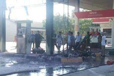 SPBU Terbakar Saat Motor Isi BBM, Diawali Percikan Api