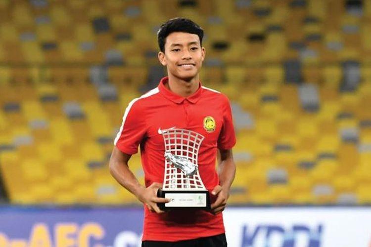 Pemain Malaysia, Luqman Hakim, mendapat penghargaan Top skor Piala Asia U-16  2018