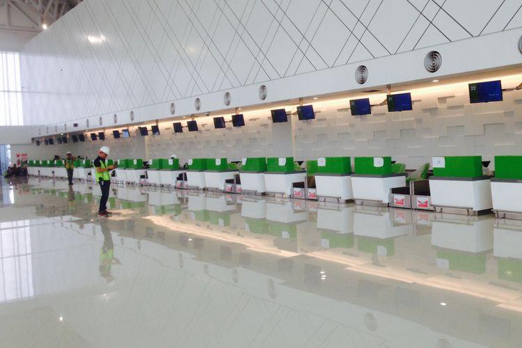 Terminal baru Bandara Internasional Ahmad Yani Semarang menjelang operasional pada awal Juni 2018 mendatang. Foto diambil Selasa (29/5/2018).