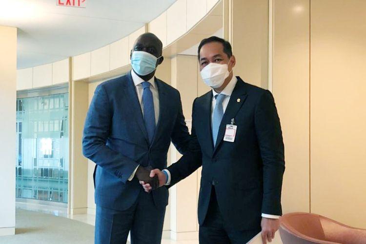 Menteri Perdagangan Muhammad Lutfi saat bertemu dengan Managing Director International Finance Corporation (IFC) di Amerika Serikat pada Senin (12/7/2021).