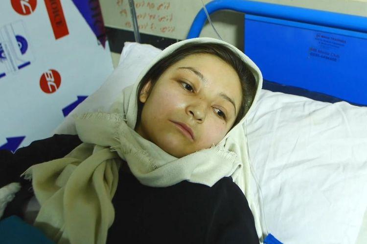 Arifa, gadis 17 tahun yang menjadi korban ledakan bom di Sekolah Sayed al-Shuhada, Kabul, Afghanistan, pada 8 Mei 2021.