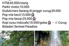 Foto Viral Biaya Masuk Curug Bidadari di Sentul Bogor Tak Wajar, Camat: Pengelola Tentukan Tarif