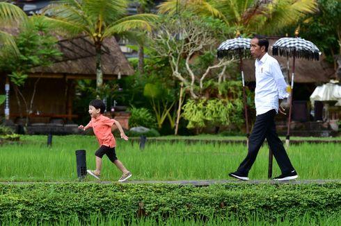 Lucunya Jan Ethes Bermain di Tepi Sawah Ditemani Jokowi, Pegawai Rumah Makan Sampai Heboh