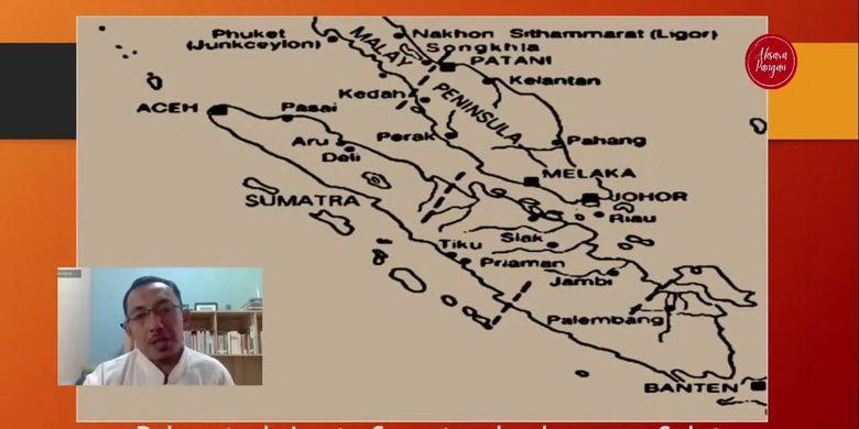 Jalur perdagangan rempah di sekitar Sumatera Barat dan Selat Malaka