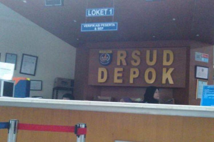 Salah satu loket di RSUD Depok, Jalan Muchtar, Sawangan, Depok, Kamis (11/9/2014).