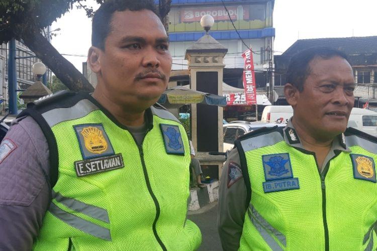 Bripka Eka Setiawan salah seorang petugas kepolisian yang berhasil berhentikan mobil brutal di Jalan Pasar Minggu Raya, Jakarta Selatan, Senin (16/9/2019)