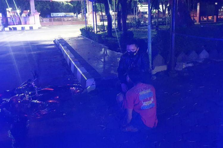 Seorang pembalap liar diamankan aparat Satlantas Polres Semarang.