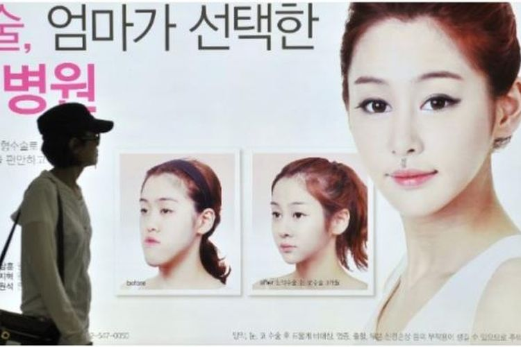 Iklan operasi plastik di Korea Selatan